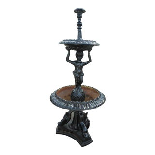 Elegant Cast Iron Fountain For Sale