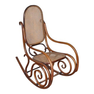Antique Austrian Bentwood Rocking Chair For Sale