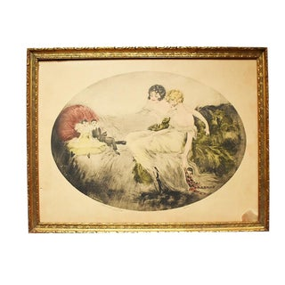 French Doll Cotes Print by Bernart Corp For Sale