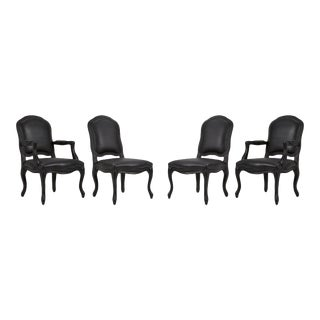 Modern Black CB2 Dining Chairs - Set of 4 For Sale