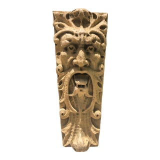 "Vintage Gothic 38""Faux Stone Wall Fountain/ Mask For Sale"