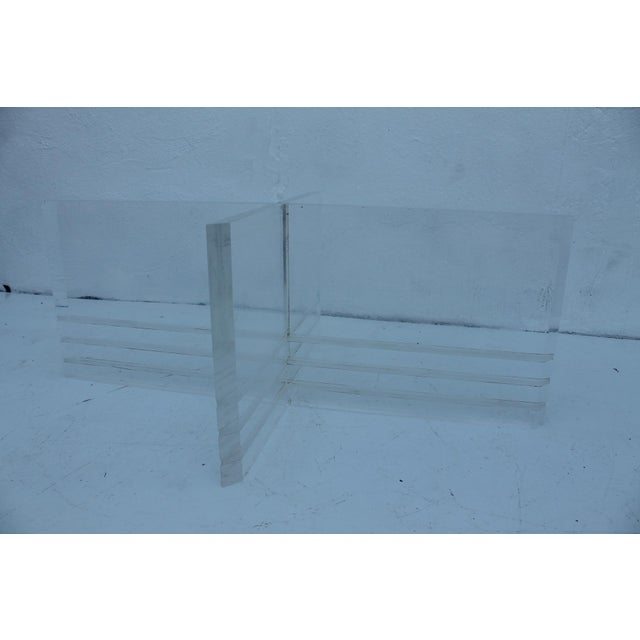 Vintage Lucite Coffee Table - Image 5 of 8