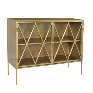 Brass Finish Side Cabinet