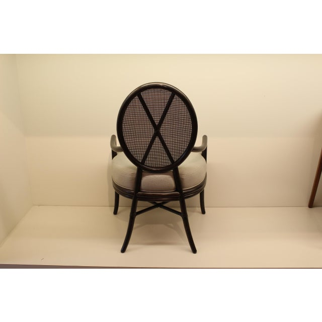McGuire Barbara Barry Oval X Back Chair - Image 4 of 6
