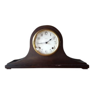 Vintage Ansonia Mid-Century Mahogany Mantle Clock For Sale