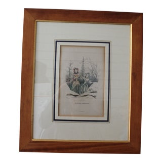 Antique French J.J. Grandville Engraving For Sale