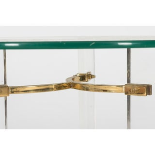 1970 Regency Lucite and Brass End Table Preview