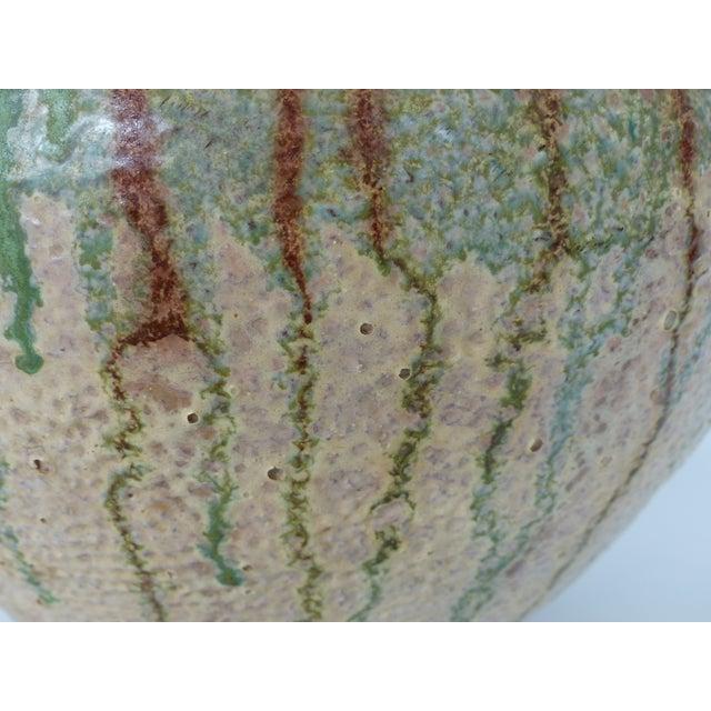 1970s 1970s Vintage Glaze Terracotta Pottery Vase For Sale - Image 5 of 10