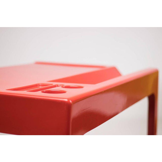 Red Fiberglass Desk by Marc Berthier For Sale - Image 6 of 8
