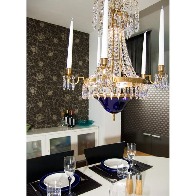 Classic Swedish Crystal Chandelier For Sale In Greensboro - Image 6 of 7