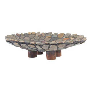 Artist Made Stone Platter by Don Moss For Sale