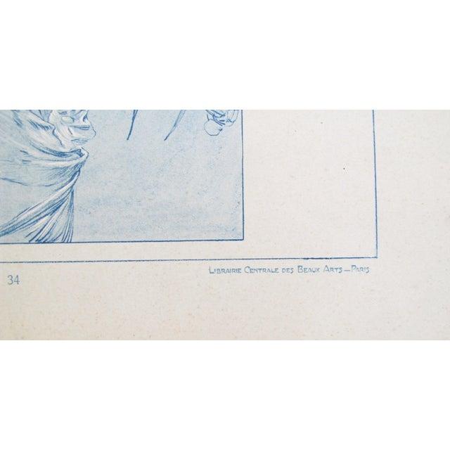 Art Nouveau 1902 Original Vintage French Art Nouveau Illustration - Figures Decoratives - A. Mucha For Sale - Image 3 of 5