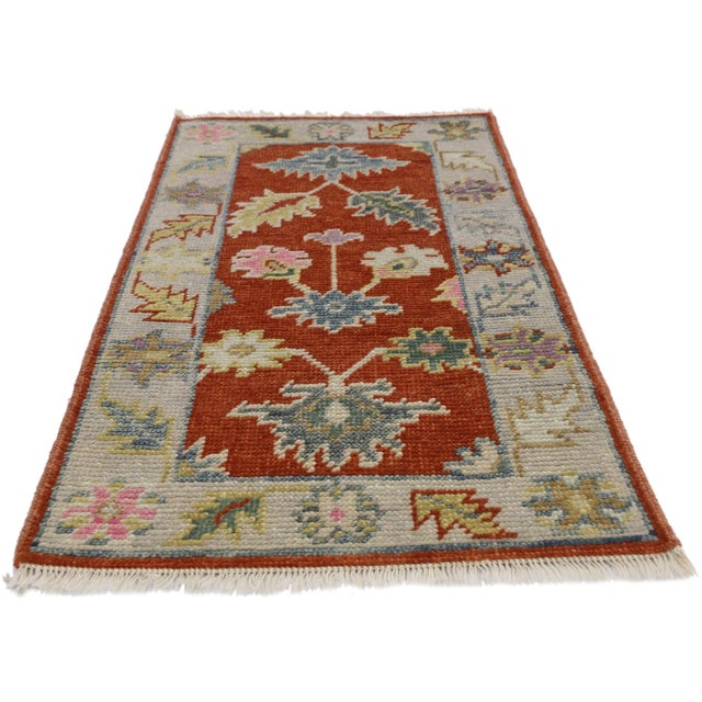 Contemporary Early 21st Century Oushak Accent Rug- 2' X 3'10 For Sale - Image 3 of 8