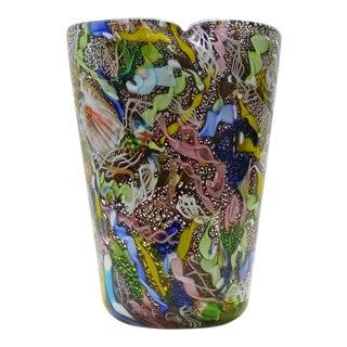 Anzolo Fuga Bisanzio Vase Avem Murano Italian Venetian Glass Mid-Century Modern