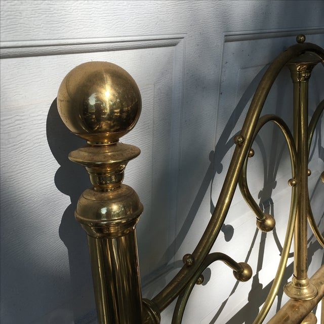 Vintage Brass Twin Bed For Sale - Image 10 of 11