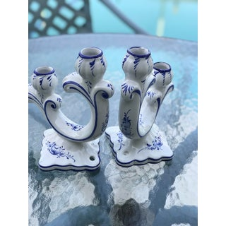 Portugal Blue and White Candle Holder's-Pair Preview