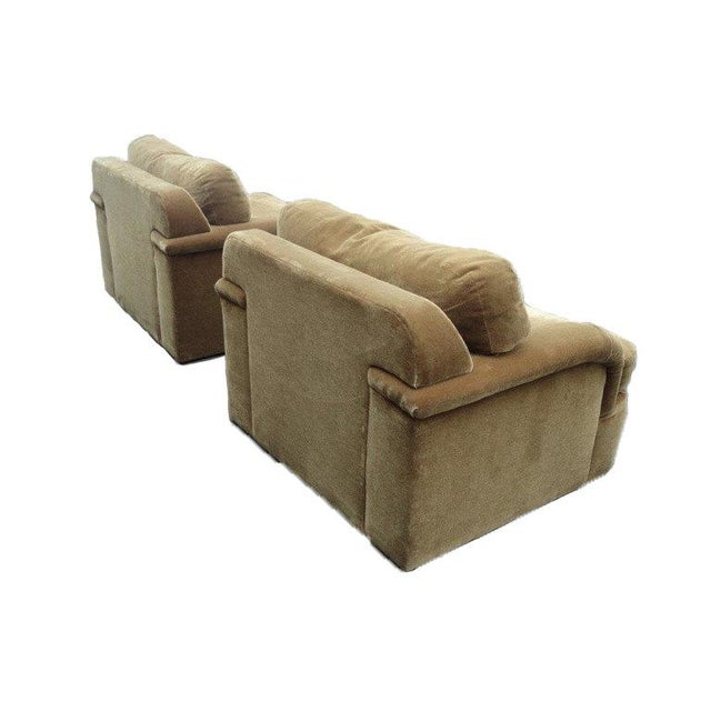 Thayer Coggin - Milo Baughman Style Oversized Mohair Club Chairs - A Pair - Image 2 of 11