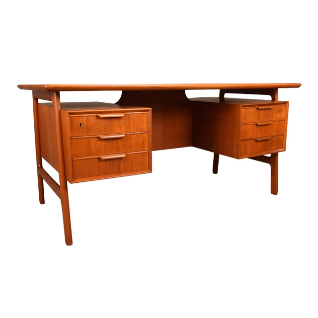 a003479fa316b Here is the iconic Model 75 desk designed by Gunni Omann and manufactured  by Omann Jun. Mid-Century Modern Vintage Danish ...
