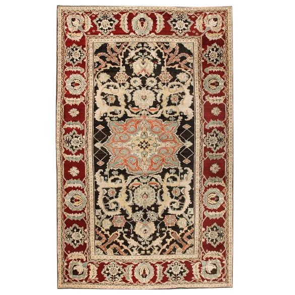 Exceptional 19th Century Indian Agra Carpet For Sale