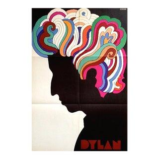 Vintage Bob Dylan Poster by Milton Glaser
