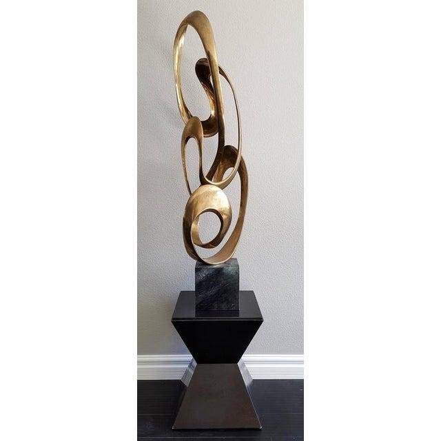 Tom Bennett 1980s Monumental Brass Sculpture Expressway LG by Tom Bennett For Sale - Image 4 of 8