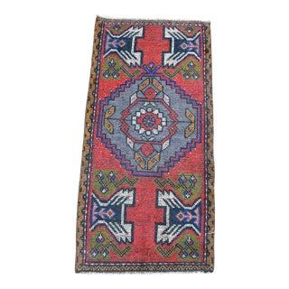 1960s Vintage Bohemian Anatolian Wool Rug For Sale
