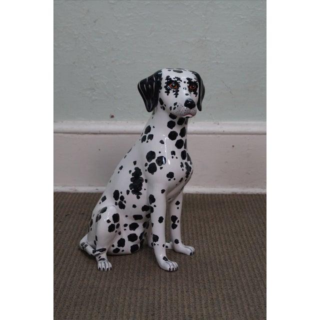 Vintage Italian Pottery Dalmatian Dog Statue - Image 2 of 10