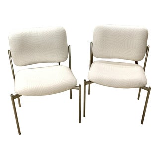 Vintage Mid Century Chrome Chairs - a Pair For Sale