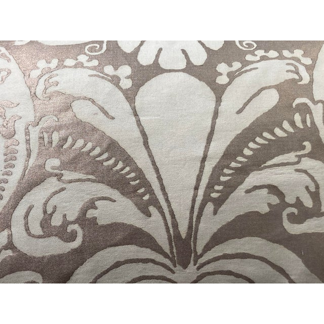 2020s Contemporary Fortuny Bronze and Cream Pillow For Sale - Image 5 of 6