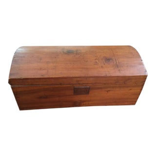Antique Primitive Rounded Top Chest Trunk