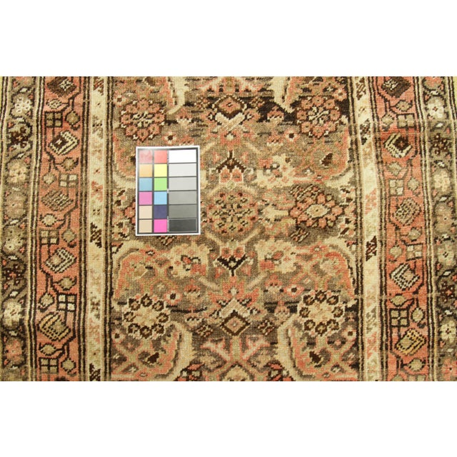 Brown 1930s Vintage Persian Zanjan Style Rug - 3′2″ × 12′9″ For Sale - Image 8 of 10