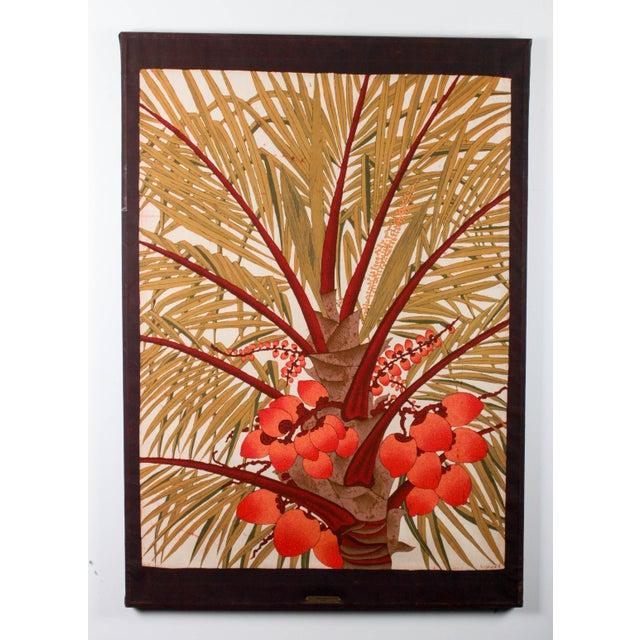 """Vipula Dharmawardena (Sri Lankan) """"King Coconut"""" Batik For Sale - Image 5 of 10"""