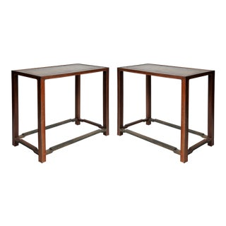 Vintage Ming Dynasty Style Square Tables - A Pair For Sale