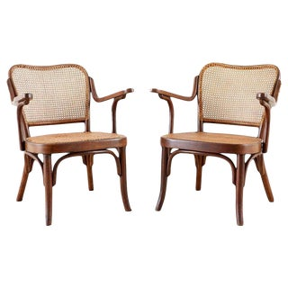 Pair of Josef Frank for Thonet Bentwood Armchairs For Sale