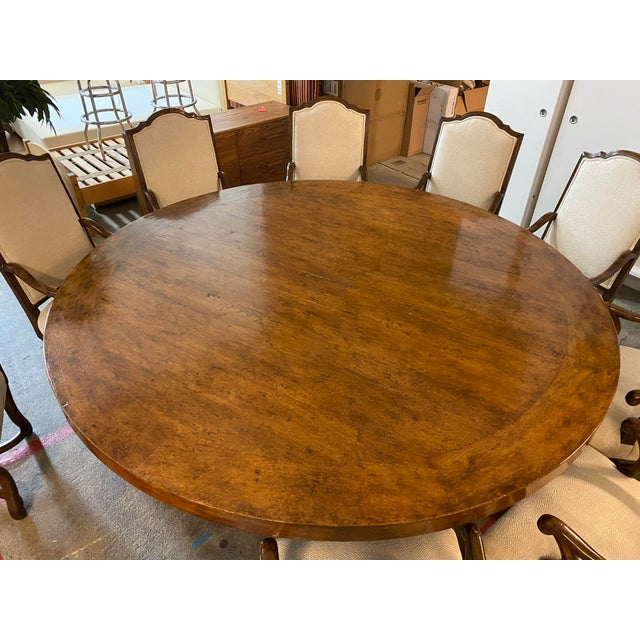 Michael Taylor Michael Taylor Table + Set of 10 Custom Design Chairs Dining Set For Sale - Image 4 of 13