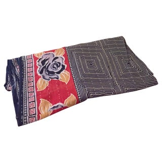 Vintage Kantha Sari Quilt