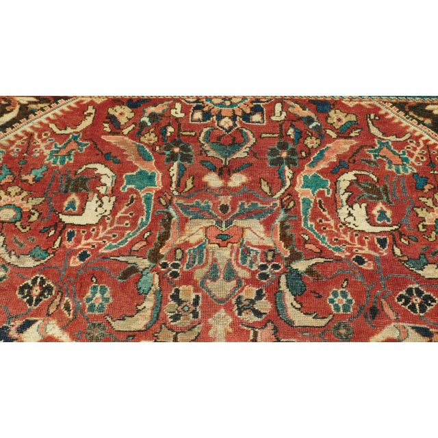 Antique Floral Motif Persian Rug - 9′1″ × 11′5″