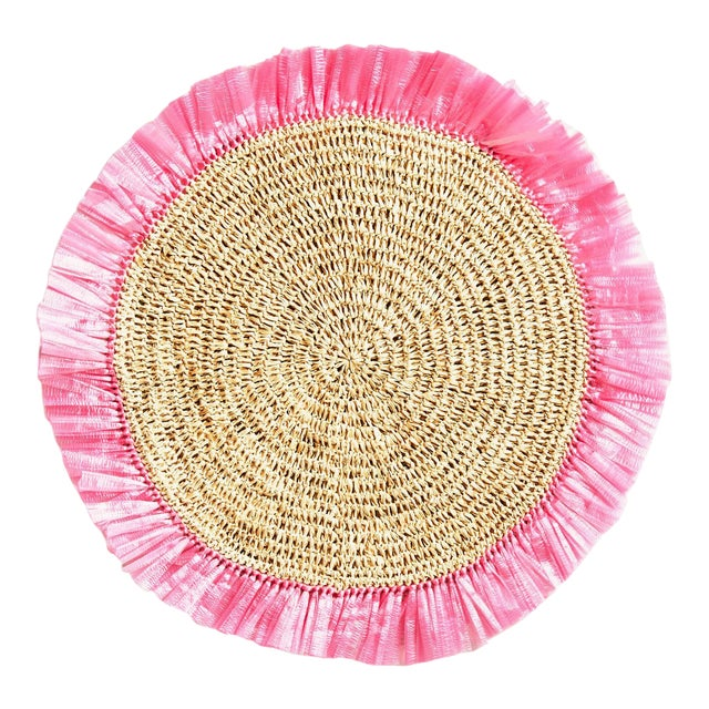 White Woven Rattan Placemat For Sale