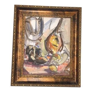 Vintage Modernist Still Life Painting For Sale