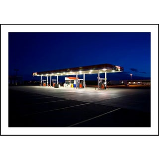 """""""Lonely Gas Station"""" Contemporary Photograph by George Diebold, Framed For Sale"""