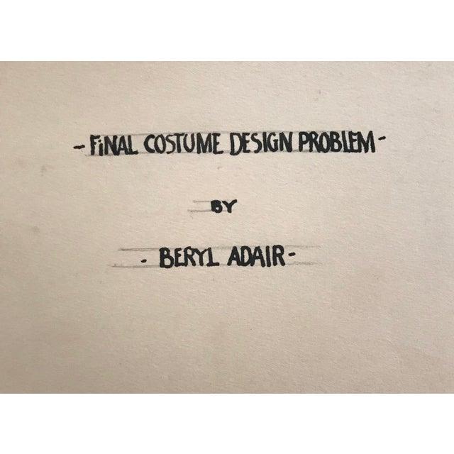 1930s Portfolio of Fashion Designs by Beryl Adair Trezise, C. 1930 For Sale - Image 5 of 7