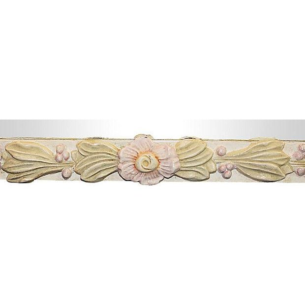 Floral Painted Mirror For Sale - Image 4 of 4