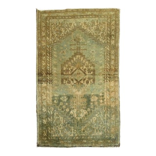 Green Antique Malayer Rug, 2'9'' X 4'2'' For Sale