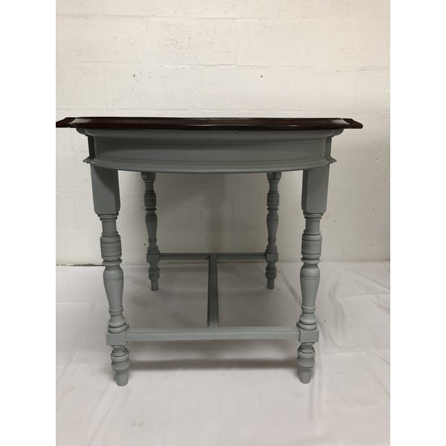 Late 19th Century 19th Century Italian Polished Rosewood Veneer on Top With Painted Wood Base For Sale - Image 5 of 9