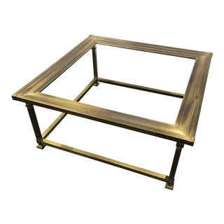 Vintage Brass Coffee Table by Mastercraft Circa 1960s For Sale