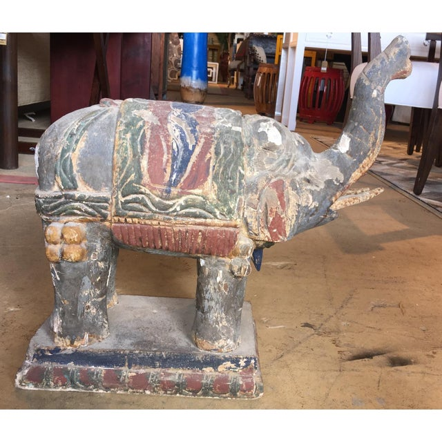 Hand Carved Elephant Statue - Image 5 of 5