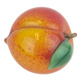 Image of Vintage Orient & Flume Signed Peach Paperweight For Sale