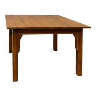 Crafters and Weavers Mission Quarter Sawn White Oak Square Dining Table For Sale