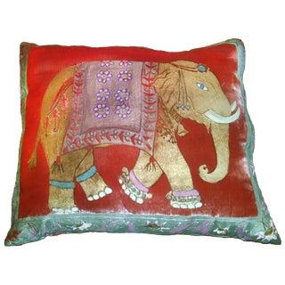 Elephant Silk Velvet Pillow Cover For Sale