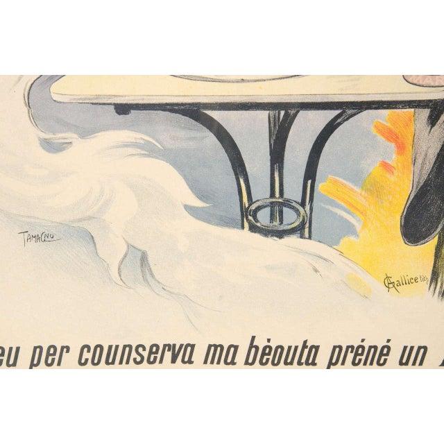 """White Gorgeous Belle Époque Poster by Francisco Tamagno """"Demandez Un Marra"""" For Sale - Image 8 of 9"""